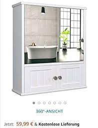 wunderschöner badezimmer spiegelschrank im landhausstil