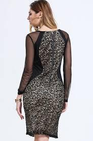 jhonpeter women lace decorated short length sheath dress black