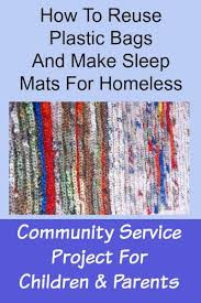 DIY Plastic Bags Into Mats For Homeless