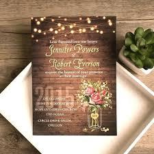 Inexpensive Rustic Wedding Invitations Spring Flower Mason Jar String Lights Cheap