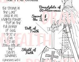 Armor Of God Printable Downloadable File You Print It Religious Printables