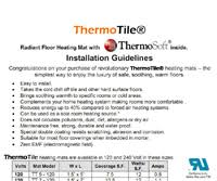 Warm Tiles Easy Heat Manual by Installing Radiant Floor Heating Under Tile And Stone