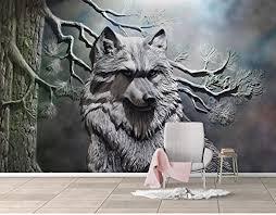 wh porp wandbild tapeten 3d stereo relief abstrakt wolf