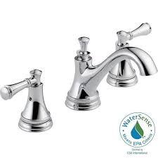 Menards Brass Bathroom Faucets by Delta Silverton In Widespread Handle Bathroom Faucet Beautiful