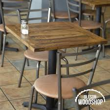Custom Woodworking Regina Oleson Woodshop Rustic Restaurant Tables