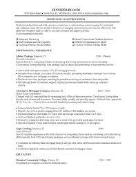 Mortgage Loan Processor Job Description Resume Objective Examples MortgageLoanProcessor