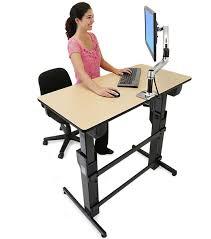 Ergotron Sit Stand Desk by Ergotron 24 271 928 Workfit D Sit Stand Desk Birch