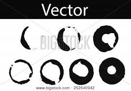 Black Drink Stains Illustration On Transparent Background Isolated Splash And Blots Concept For Grunge Design Vector Set Of Coffee Ring