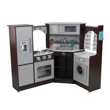 Kidkraft Easel Desk Espresso by Ultimate Corner Play Kitchen With Lights U0026 Sounds Espresso