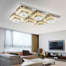 deco remote square flush mount ceiling lights
