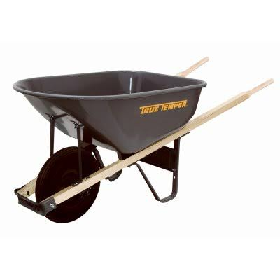 Ames True Temper Steel Wheelbarrow - 6 Cubic Feet