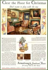 1930s LIVING ROOM DECOR IN 1930 ARMSTRONG LINOLEUM AD