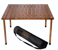 outdoor folding wooden picnic table in a bag outdoor folding table