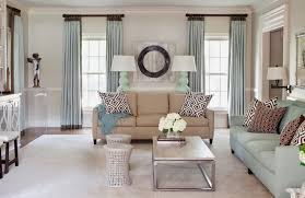 Living Room Fresh Light Blue And Brown Living Room Decoration