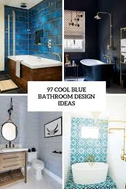 46 Cool Small Master Bathroom 97 Cool Blue Bathroom Design Ideas Digsdigs