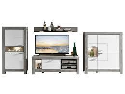 wohn concept granada 4 teilige wohnkombination 83 für ihr wohnzimmer wohnwand mit zwei stauraumelementen einem tv unterteil und einem wandboard inkl