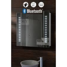 galactic illuminated led bluetooth bathroom mirror cabinet