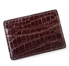 glazed chocolate brown alligator card holder sir jack u0027s