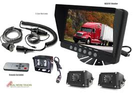 Blindspot Camera System For Semis - Three Cameras - 7 In. Monitor ... Vehicle Blind Spot Assistance Stock Image Of Blind Angle Spots How To Check Them While Driving Aceable 2 X 3 Inch Rear View Mirrors Rearview Wide Angle Round Best Truck Curtains Decoration Ideas Drapes Mirror Pcs Black Fanshaped Auxiliary Arc Car Side 360 Adjustable Fits And Insights Wainwright Insight Wise Eye Blind Spot Truck Mirror Back Up Light Trouble Spot Unsafe Practices Saaq Right Position Trucklite 97619 5 Convex