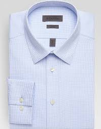 Calvin Klein Light Blue Check Slim Fit Non Iron Dress Shirt