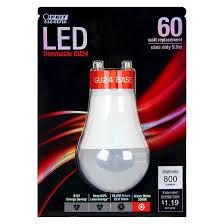 feit 60 watt a19 gu24 base led light bulb soft white target