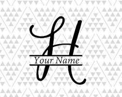Letter h svg