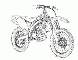 Motorcycle Coloring Pages Dirt Bike Motocross Coloringstar Adult Medium Size