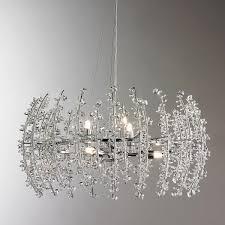 Contempo Crystal Chandelier 6 Light Lights Modern