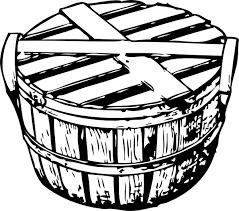 Bushel Basket With Cover Clip Art