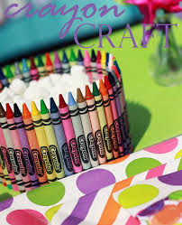 Art Party Crayola Crayon Craft O The Celebration Shoppe