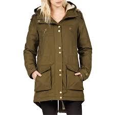 volcom walk on by parka jacket women u0027s evo