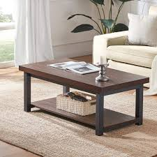 Sierra Nevada 2Tier Large Rustic Square Coffee Table
