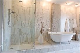 calacatta porcelain tile contemporary bathroom nashville
