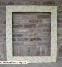 Mosaic Bathroom Mirror Diy by Bathroom Makeover Day 14 Diy Mosaic Wood Tile Mirror Frame