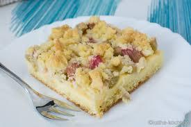 rhabarberkuchen mit vanillepudding vom blech katha kocht
