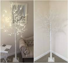 Ebay Christmas Trees With Lights by 7ft Christmas Twig Tree Pre Lit 120 Led Warm White Lights Indoor