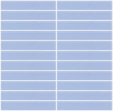 glass tile 1x6 inch light periwinkle blue frosted glass subway tile