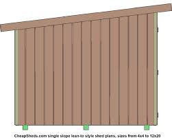 12x20 Shed Material List by Lean To Style Sheds