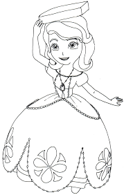 Free Printable Sofia The First Coloring Page