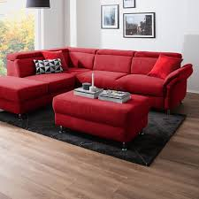 fredriks polsterhocker calang rot webstoff 102x45x68 modern