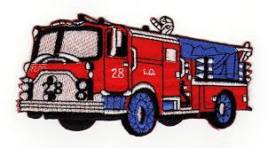 100 Fire Truck Applique Amazoncom Rescue Fighter Car Sewon Ironon Patches