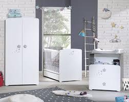 chambre bébé blanc chambre lit chêne silex et blanc nao 60 x 120 cm lestendances fr