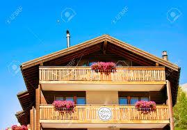 100 Log Cabins Switzerland Zermatt August 24 2016 Traditional Swiss Chalet