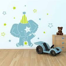 stickers chambre enfants sticker mural eléphant motif bébé fille pour chambre bébé fille
