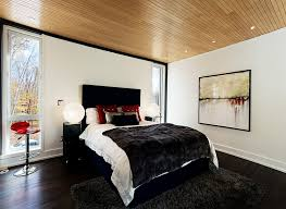 View In Gallery Exquisite Use Of Black White And Red The Bedroom