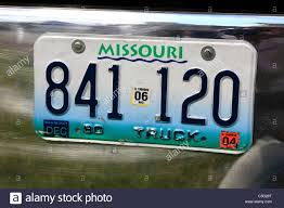 Missouri Truck Vehicle License Plate Stock Photo: 37781208 - Alamy