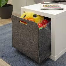 4er set filz aufbewahrungsbox 33x33x38 cm kallax filzkorb regal einsatz box grau