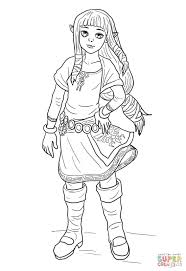 Click The Young Zelda Coloring Pages To View Printable Version Or Color It Online Compatible With IPad And Android Tablets