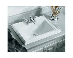 Install Overmount Bathroom Sink by Faucet Com K 2241 8 0 In White By Kohler