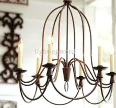 French Wrought Iron Chandelier Art Bend Pipe Light Living Room Dining Bar Hotel